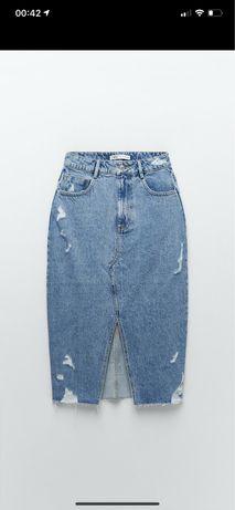Продам юбку джинсовая zara новая XS