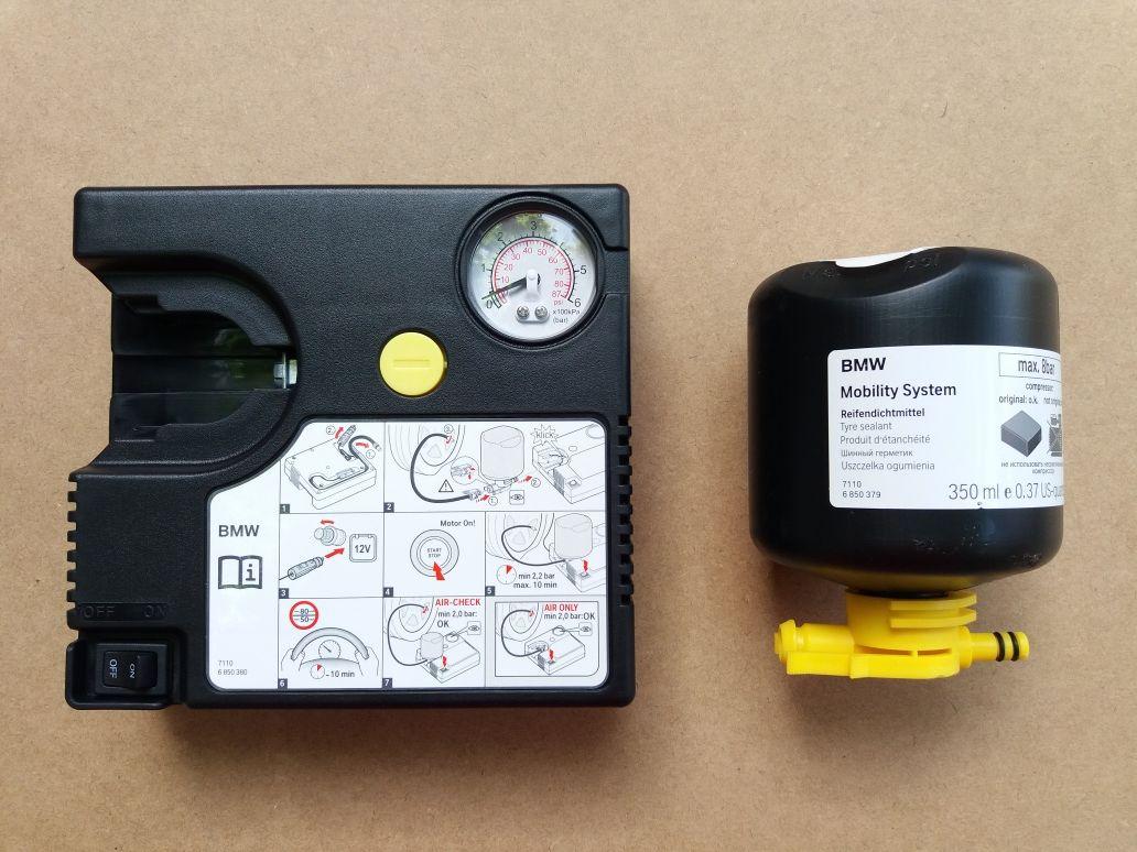 Kit pană compresor auto + solutie umflat roti original BMW  12 v Nou