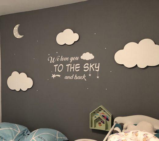 Decor camera copii / bebelusi lampa  veghe nori