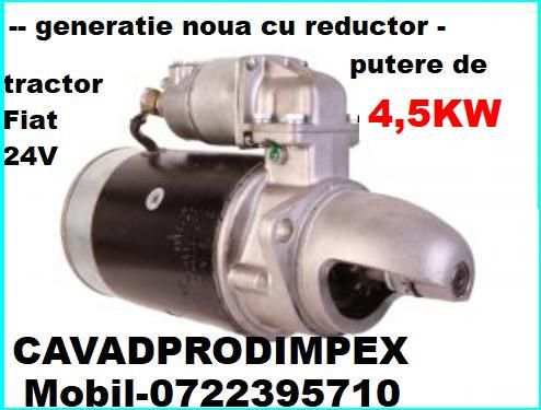 Electromotor NOU putere 4,5kw reductor tractor Fiat312,315,411,415,431