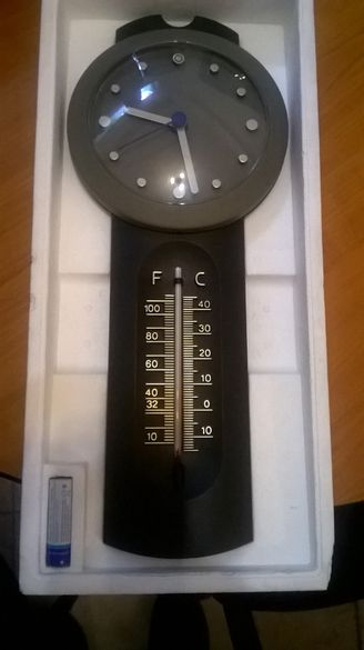 часовник антикварен немски с термометър уникат