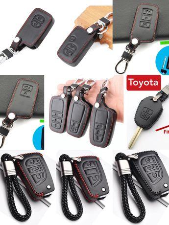 Калъф за ключ Toyota Avensis,Corolla,Prius,Camry,RAV4,Yaris,Auris,C-HR