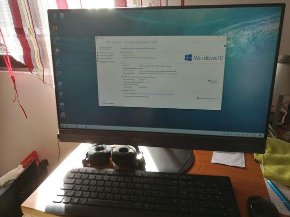 Продавам Lenovo настолен компютър и монитор в едно, Intel Core i3