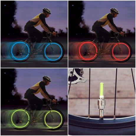 Set Lumini Roti Biciclete/Moto/Auto: Rosu, Albastru, Verde (NOI)