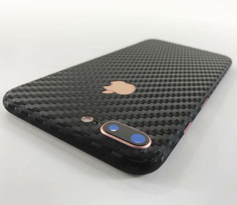Folie carbon full back cover iPhone 7 Plus , 8 Plus Ploiesti - imagine 1