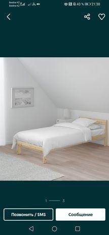 Кровать деревянная +матрас ортодоксальная 200х80