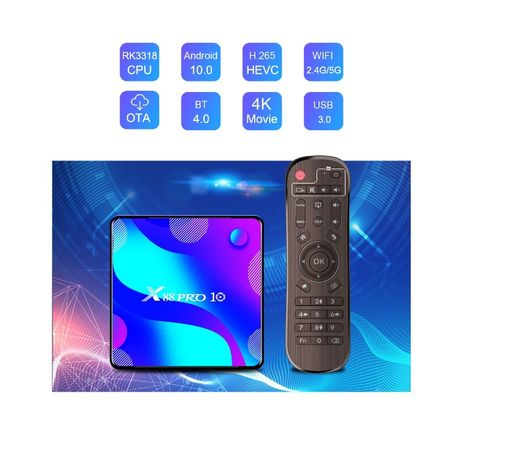 Media player TV Box X88 PRO 10 Android 10, 4GB RAM,64GB ROM 4K Netflix