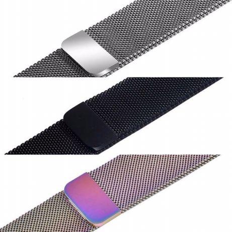 Milanese loop каишка + Силиконов кейс Apple watch 44mm 40mm 42/38mm
