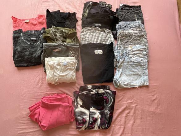Лот от 16 броя дамски панталони,поли,туники,рокли,потници