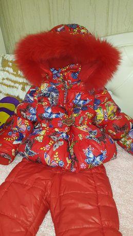 Зимний комбинезон комбез куртка  для девочки 3-5 лет