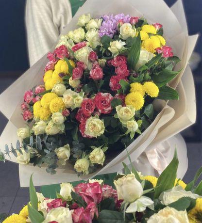 Шикарные букеты / голландские розы / цветы г.Алматы