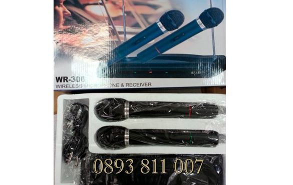 2 броя Безжични Микрофони -wireless + майка- приемник - 100 метра