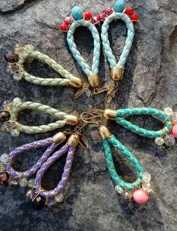 Серьги яркие весна лето сережки авторские украшения бижутерия
