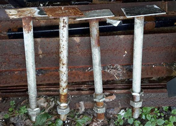 железни елементи за строителство строеж планка с гайка