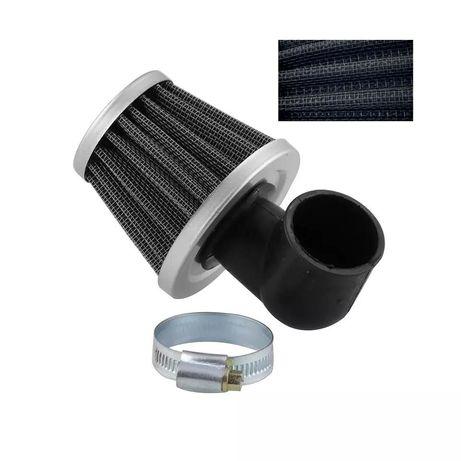 Спортен филтър за мотоциклет 90°- Черен