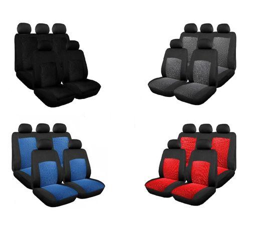 Set Huse Scaune Auto Universal, Flexzon, Textil, 9 buc NOU !