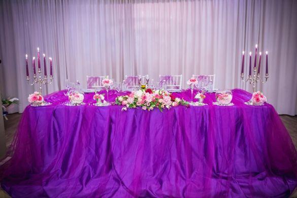 Продавам сватбена украса в лилаво