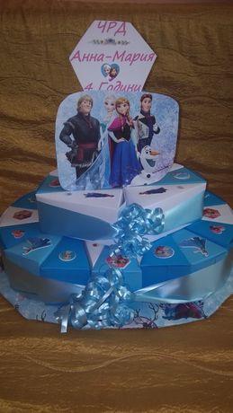 Картонена торта The Frozen