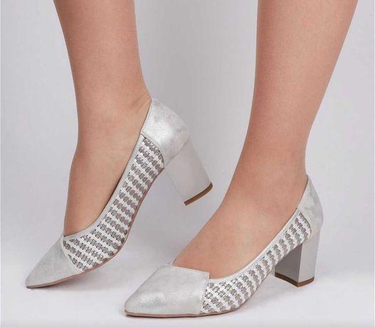 Туфли женские цвет серебристый