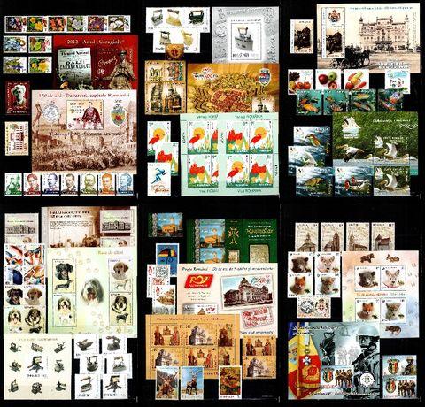 Timbre Romania 2012 - AN COMPLET!!! 82 timbre + 16 blocuri, MNH!