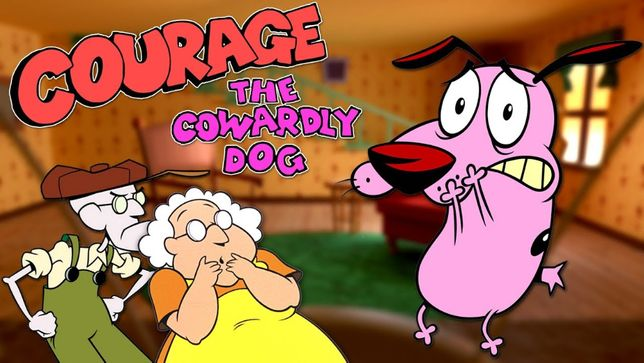 Serial animație Curaj Câinele cel Fricos cu transport inclus