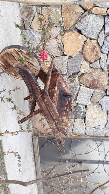 Mobilier gradina, elemente decorative driftwood si lemn antichizat