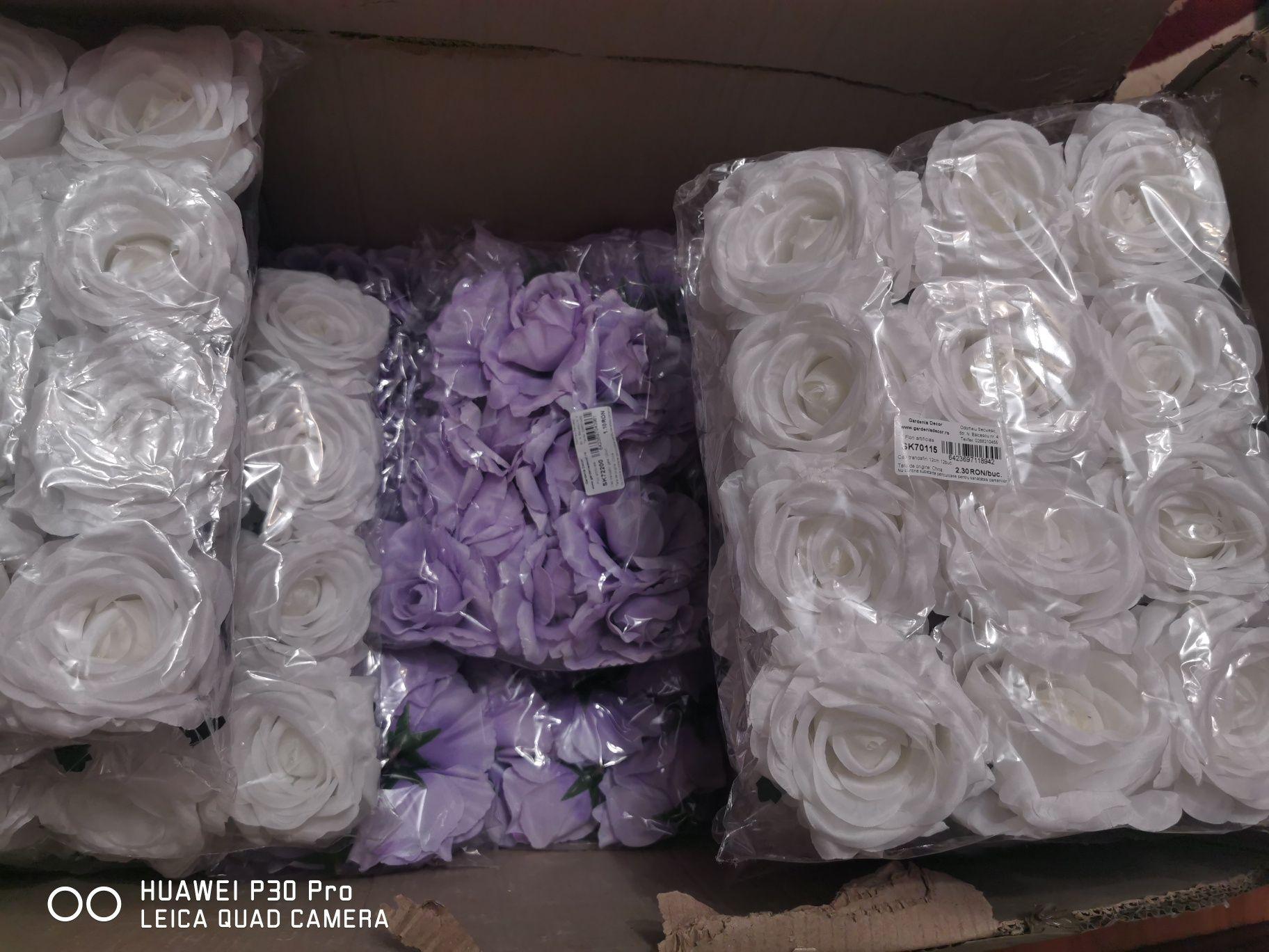 Vând cap trandafiri artificiali 12 cm