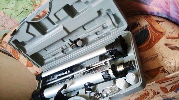 Телескоп в куфар - за малки и големи, добра оптика(не слюдена играчка№