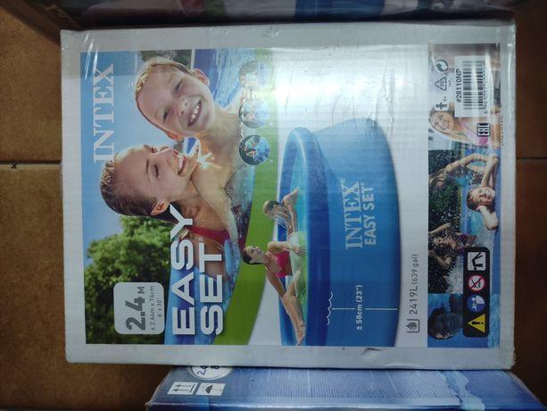 Бассейн полу надувной детский intex бассейн bestway