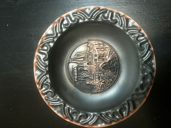 Декорация - стара медна чиния - СОЦ - Прага