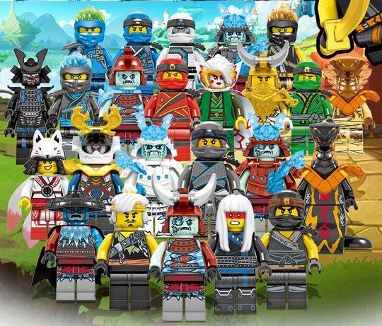 Minifigurine tip Lego Ninjago sezon 11 cu Akita si Harumi