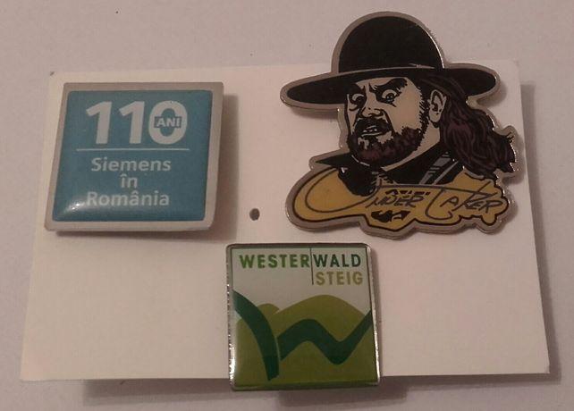 Lot insigne pins Siemens 110ani si 2 straine undertaker si westerwald