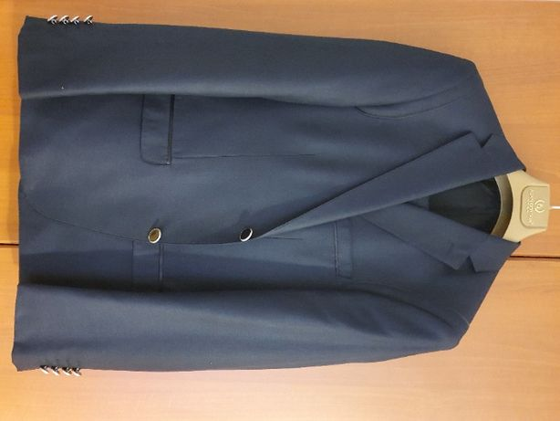 Costum (pantaloni + sacou), barbati, bleumarin, marimea 44