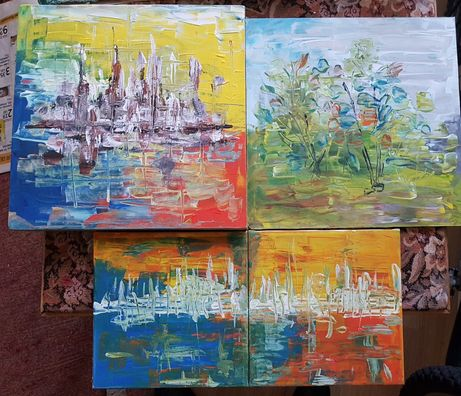 pictura acrylica abstracta
