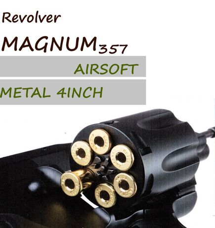 Revolver MAGNUM357 COLT calibru 6mm cu teava de 4 inch airsoft