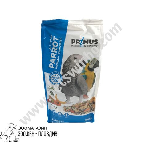Benelux Parrot 0.8кг - Храна за Папагал + Плодове / Всички видове
