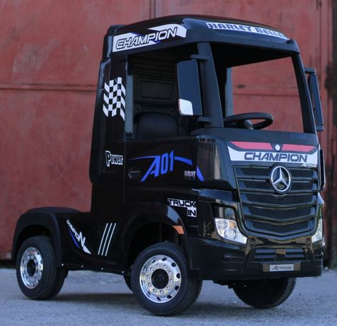 Kinderauto Mercedes ACTROS 4x4 PREMIUM 4x45W #Negru