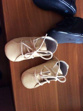 Pantofiori bebelusi din piele naturala