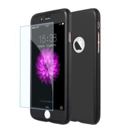 Capac de protectie Full cover 360° pentru Apple Iphone 7, negru