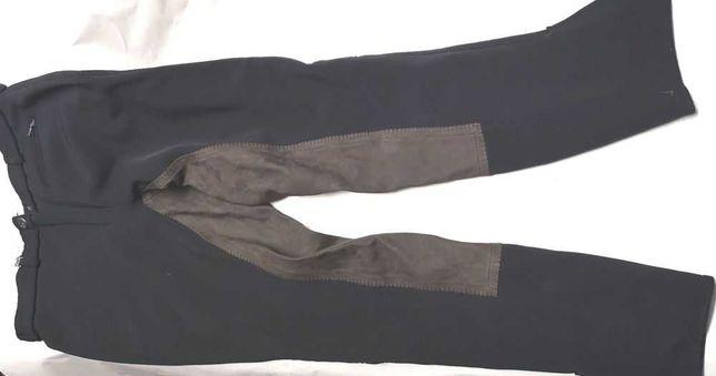 Vand pantaloni de calarie supraelastici, cu intaritura din piele
