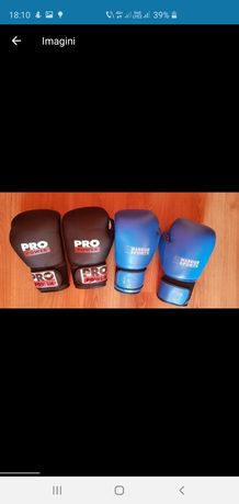 Mănuși box albastre negre