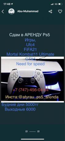 Аренда/Прокат Sony Playstation5/PS5