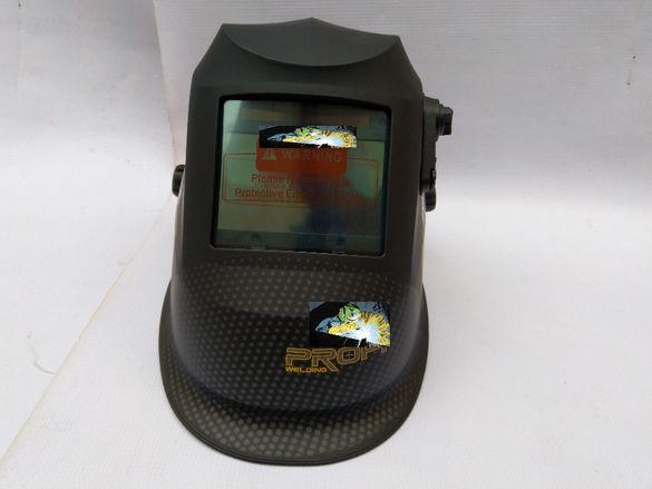 Шлем заваръчен предпазен,реален цвят,затъмнение DIN 5-13.Сменяема бат