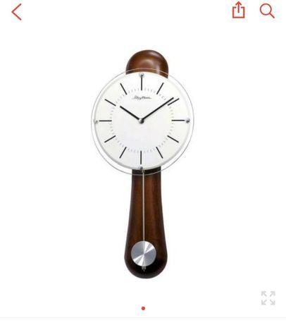 Настенные часы Rhythm CMP525NR06 коричневый
