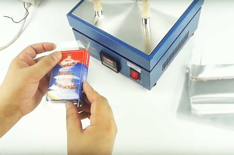 Целофан опаковъчна машина на цигари, парфюми, чайове и др.