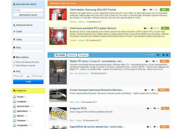 IT, site-uri la standard profesional și bază de date!