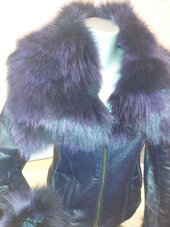 Куртка кожаная Италия размер s , доставка яндекс такси бесплатно