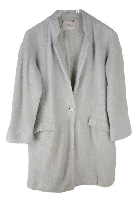 Palton Dama Max & CO marimea S oversized Gri Lana Mohair XZ71