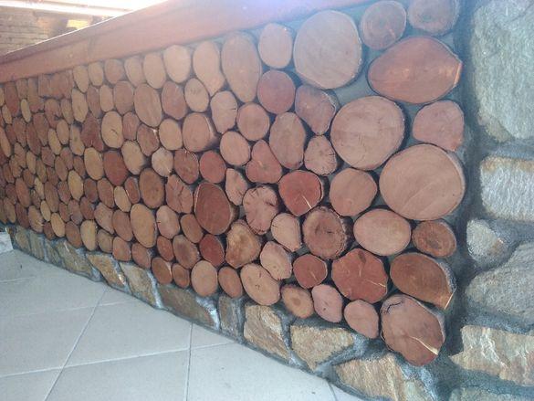 Дървени шайби за декор и аранжиране - финиш