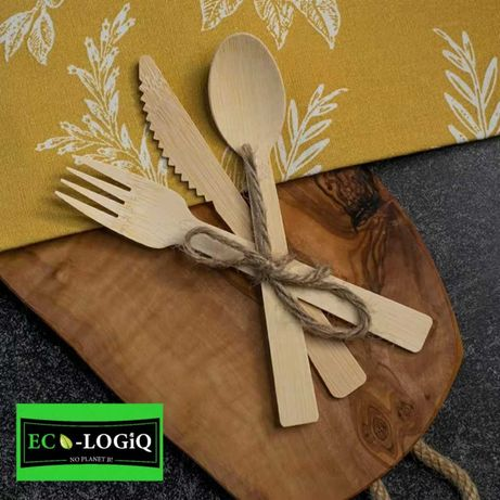 Одноразовые столовые приборы из 100% натурального бамбука
